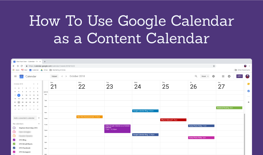 How To Use Google Calendar as a Content Calendar